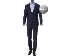 Anzug, Shape Fit, Schurwoll-Stretch, dunkel