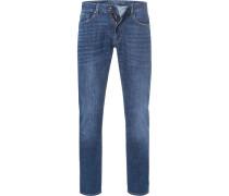 Jeans,Slim Fit, Baumwoll-Stretch, dunkel