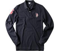 Polo-Shirt, Baumwoll-Piqué, marine