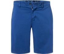 Hose Shorts, Baumwolle, kobalt