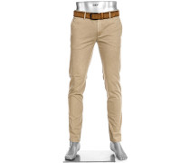Hose Chino Rob, Slim Fit, Baumwolle T400, sand
