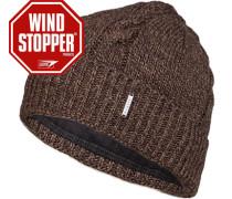 Mütze, Wolle Windstopper®,  meliert