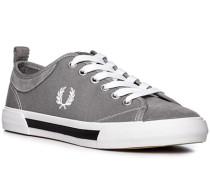 Schuhe Sneaker, Veloursleder-Textil, mittelgrau