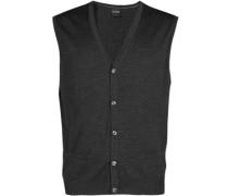 Pullover Weste, Modern Fit, Merinowolle, graphit