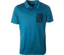 Polo-Shirt, Mikrofaser, petrol meliert