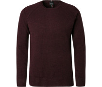Pullover, Regular Fit, Wolle, bordeaux