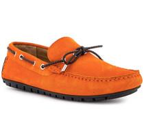 Schuhe Mokassin, Veloursleder