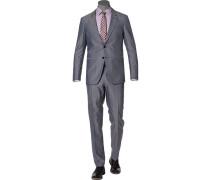 Anzug, Slim Fit, Wolle-Baumwolle THFlex
