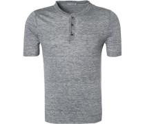 T-Shirt, Leinen,  meliert
