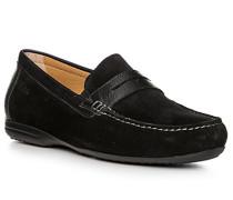 Schuhe Mokassin-Slipper, Kalbveloursleder
