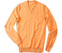 Pullover, Baumwolle, apricot