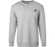 Sweatshirt, Baumwolle, hell meliert