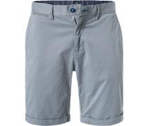 Hose Shorts, Regular Fit, Baumwoll-Stretch, rauch