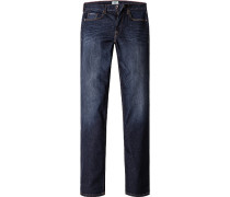 Jeans, Regular Fit, Baumwoll- Stretch, indigo