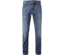 Jeans, Modern Fit, Baumwoll-Stretch, denim