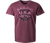T-Shirt, Baumwolle, rosenholz