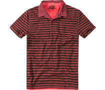 Polo-Shirtr, Baumwolle, dunkel gestreift