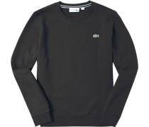 Sweatshirt, Baumwolle, schwarz