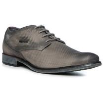 Schuhe Derby, Leder, grau