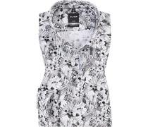 Hemd, Modern Fit, Popeline, schwarz- gemustert