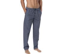 Pyjamahose, Baumwolle, grau kariert