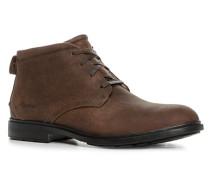 Schuhe Schnürstiefeletten, Leder, mittel