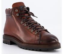 Schuhe Schnürboots, Leder, cognac