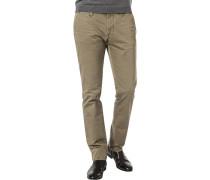 Hose Chino, Modern Fit, Baumwoll-Stretch, khaki