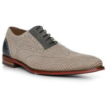 Schuhe Oxford, Kalbleder, sand