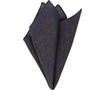 Accessoires Einstecktuch, Wolle, navy gemustert