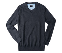 Pullover, Modern Fit, Baumwolle, anthrazit