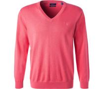 Pullover, Baumwolle, pink meliert