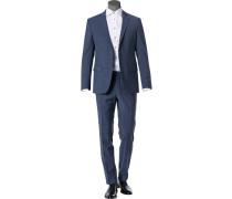 Anzug, Modern Fit, Schurwoll-Stretch
