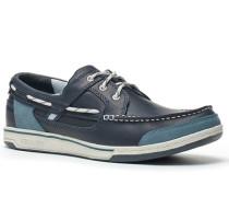 Bootsschuhe, Leder, blue