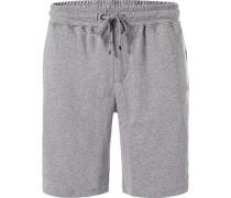 Schlafanzug Pyjamashorts, Baumwolle,  meliert