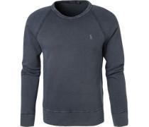 Sweatshirt, Mikrofaser, navy