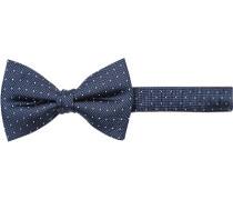 Krawatte Schleife, Seide, navy-weiß gepunktet