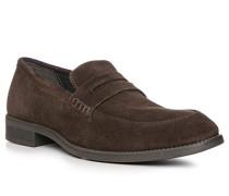 Schuhe Slipper, Veloursleder