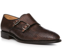 Schuhe Doppelmonkstraps, Kalbleder, dunkel