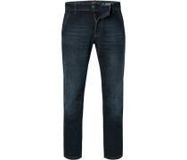 Jeans, Modern Fit, Baumwoll-Stretch, indigo