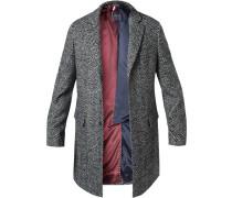 Mantel, Wolle,  gemustert