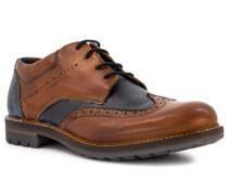 Schuhe Budapester, Leder, -dunkelblau