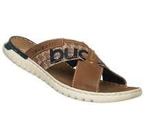 Schuhe Sandalen, Leder-Textil, hell