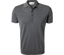 Polo-Shirt, Baumwoll-Strick, taupe