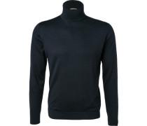Pullover, Baumwolle, marine