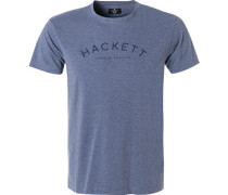 T-Shirt, Classic Fit, Baumwolle,  meliert