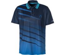 Polo-Shirt, Mikrofaser atmungsaktiv,  gemustert