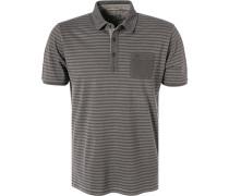 Polo-Shirt, Baumwoll-Jersey,  gestreift
