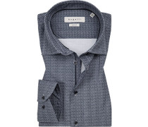 Hemd, Modern Fit, Popeline, dunkel gemustert