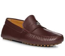 Schuhe Mokassin, Kalbleder, bordeaux